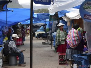 market hall in chivay, Peru