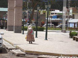 Peru, Chivay, Plaza de Armas, Colca Canyon