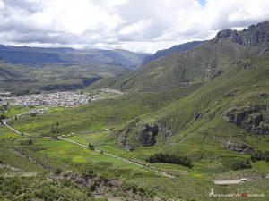 Chivay, Peru in the distance