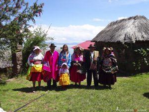 Peru, Titicacasee, Tracht
