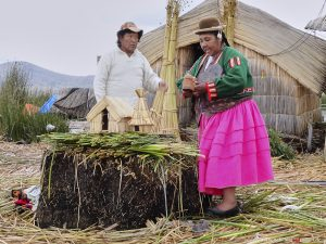 Peru, Lake Titcaca, reed house