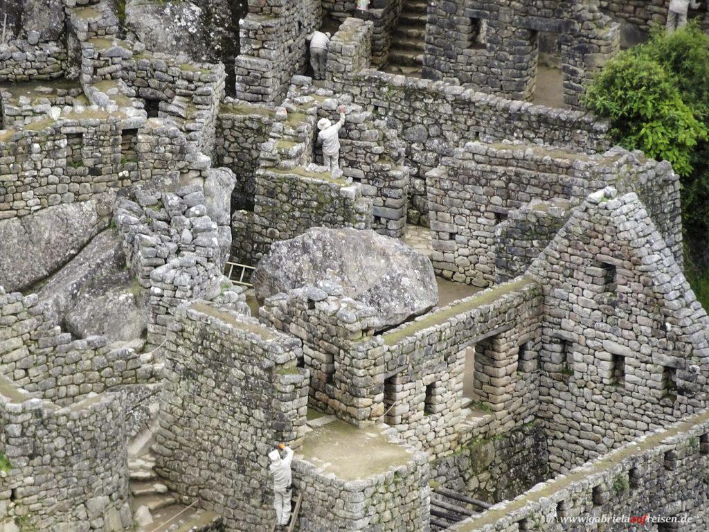 Peru, Häuser in Machu Picchu