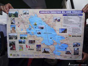 Peru, Titicacasee, Landkarte