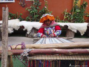 Peru, Teppichweberei