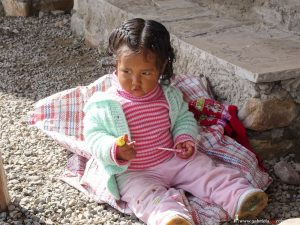 Peru, indigenous little girl