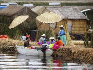Peru, Schilfinseln, Titicacasee