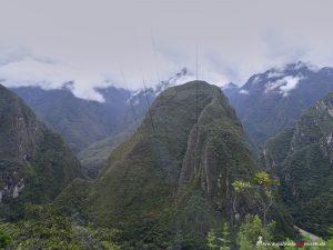 curvy way to Machu Picchu in Peru