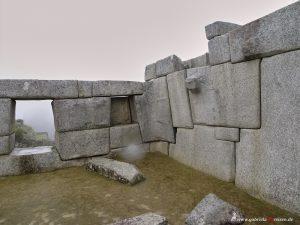 Inca temple in Machu Picchu
