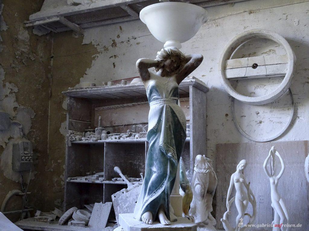 in Volterra wird Alabaster verarbeitet