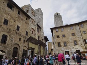 ice cream parlor in San Gimignano