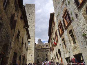 Tuscany, houses in San Gimignano