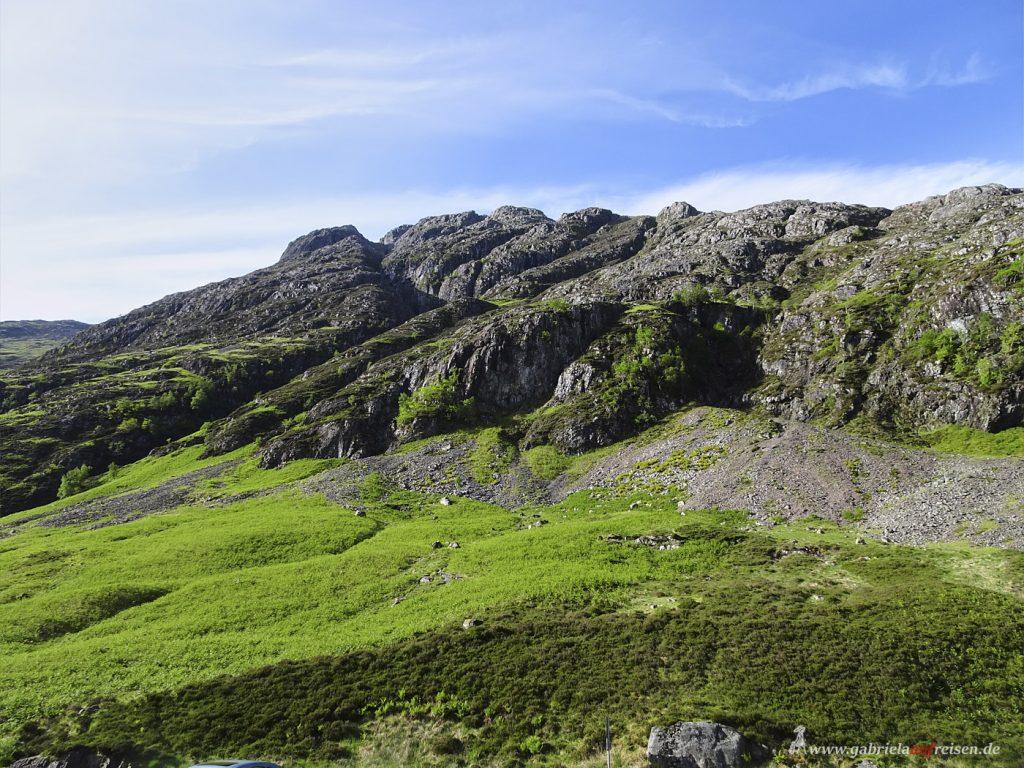 green mountains in Scotland