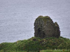 broken castle in Scotland