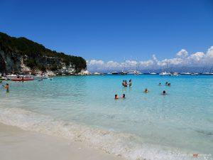 white beach in Antipaxos