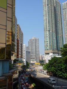 Straße in Kowloon