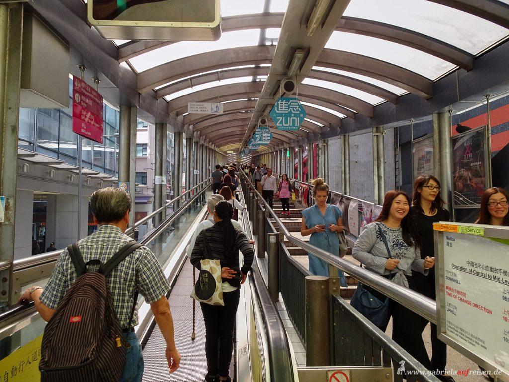 Rolltreppe in Hongkong
