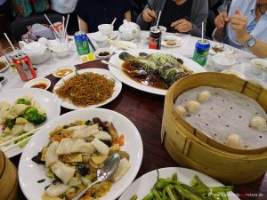 traditionelles Essen in Hongkong