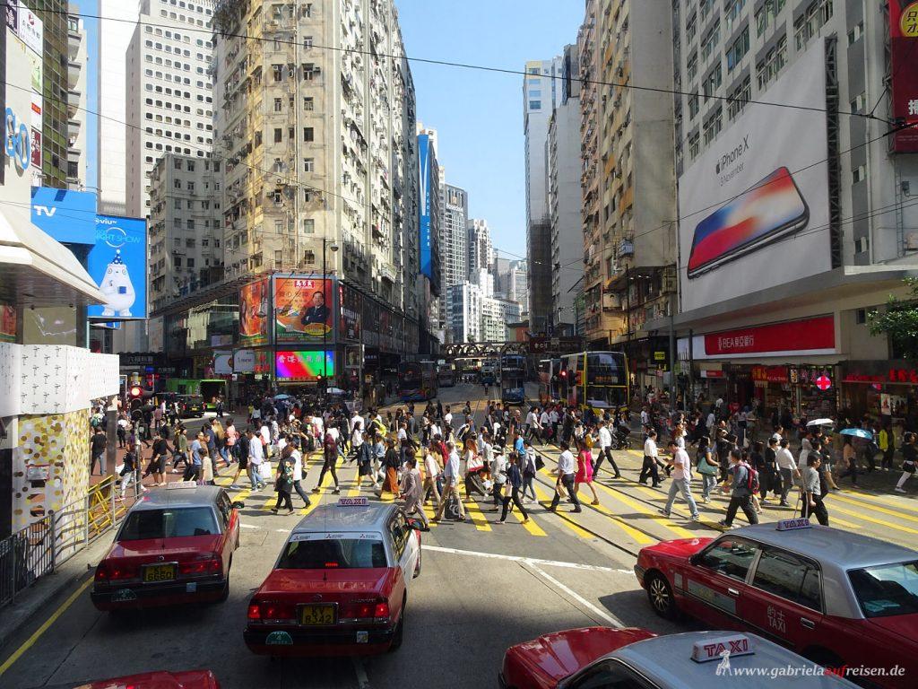 viel Verkehr in Hongkong