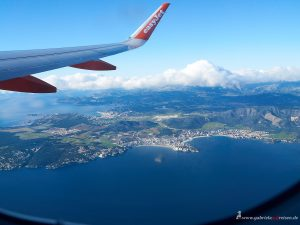 Mallorca vom Flugzeug