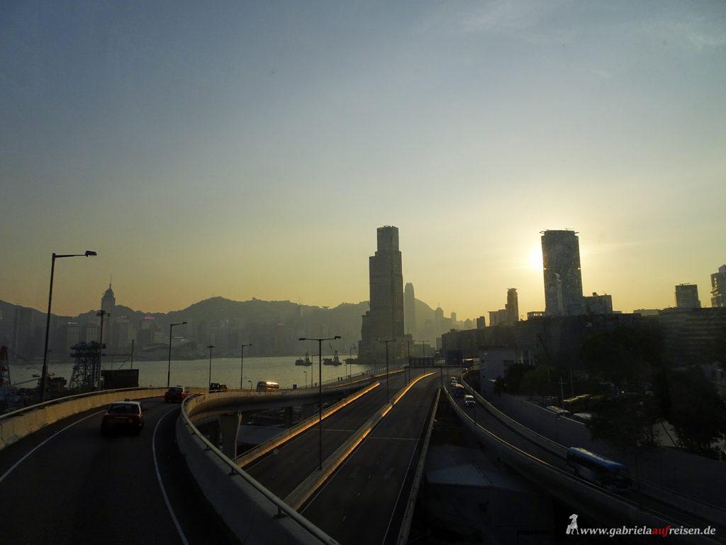 Sonnenuntergang in Hongkong