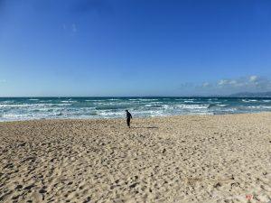 deserted beach at Palma