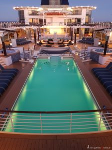 sun deck on Celebrity Infinity