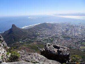 Blick auf Kapstadt vom Tafelberg