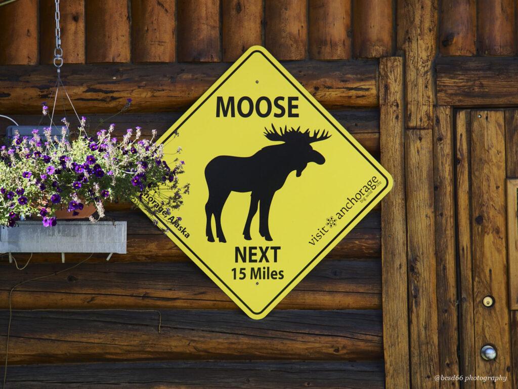 Straßenschild in Alaska